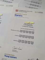 YL Starters Cambridge Exam Certification